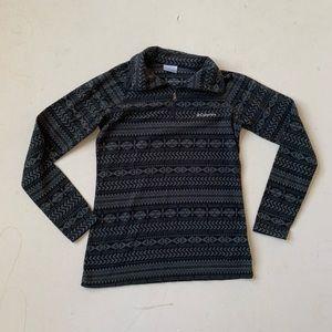 COLUMBIA Black Glacier Tribal Aztec Print Fleece